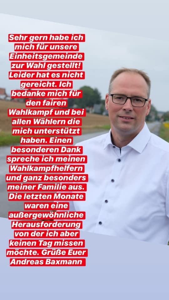Andreas Baxmann nach Bürgermeisterwahl 2020